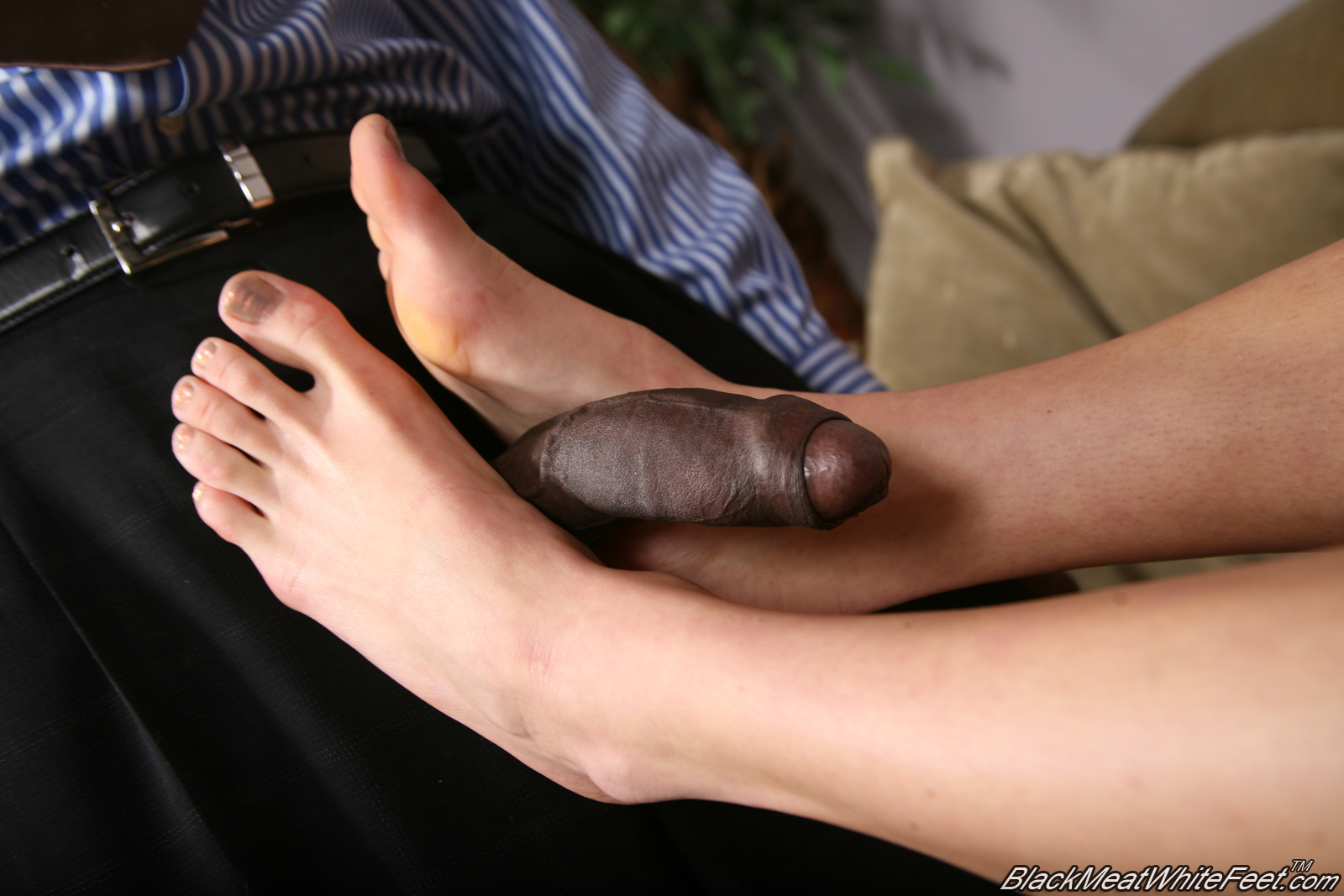 Black cock white feet